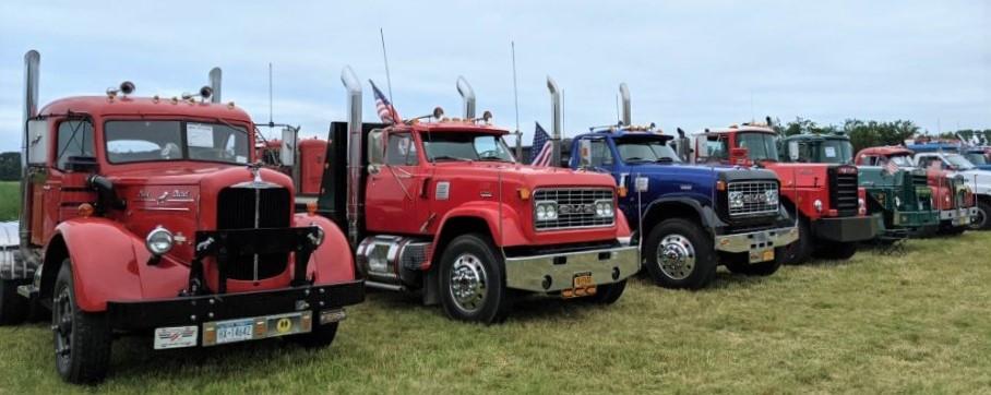 Show trucks on display