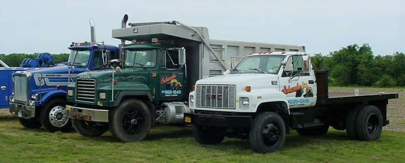 Trucks of all sizes, types, and years at the show
