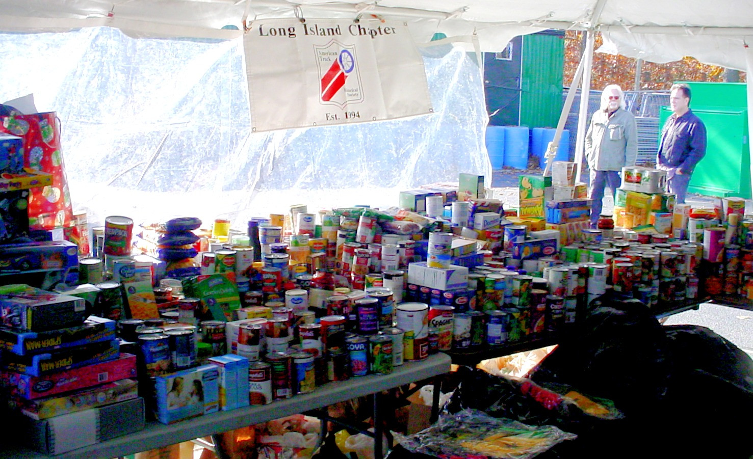 Some of the food collected for the needy