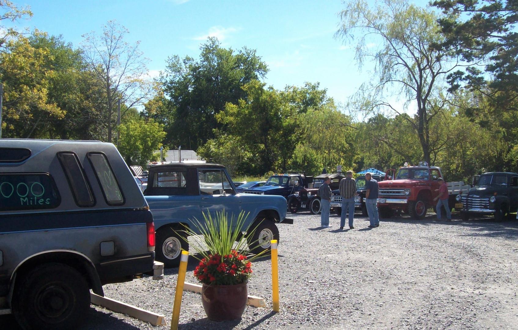 Member's trucks at the restaurant