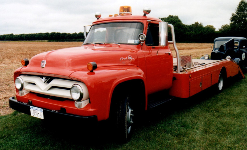 Floyd Chivvis' 1955 Ford flatbed & 1936 Ford pickup