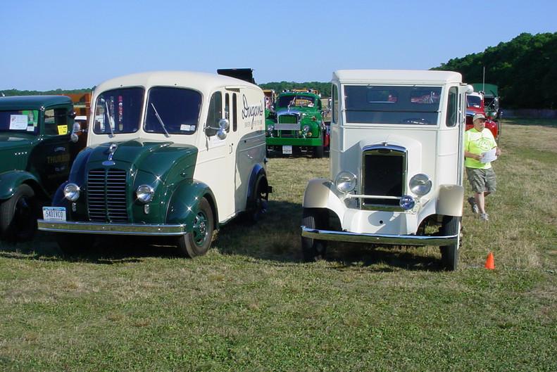 A pair of Divco's Philip Kenters 1954 model 15U & John Rienzo's 1937 model SF