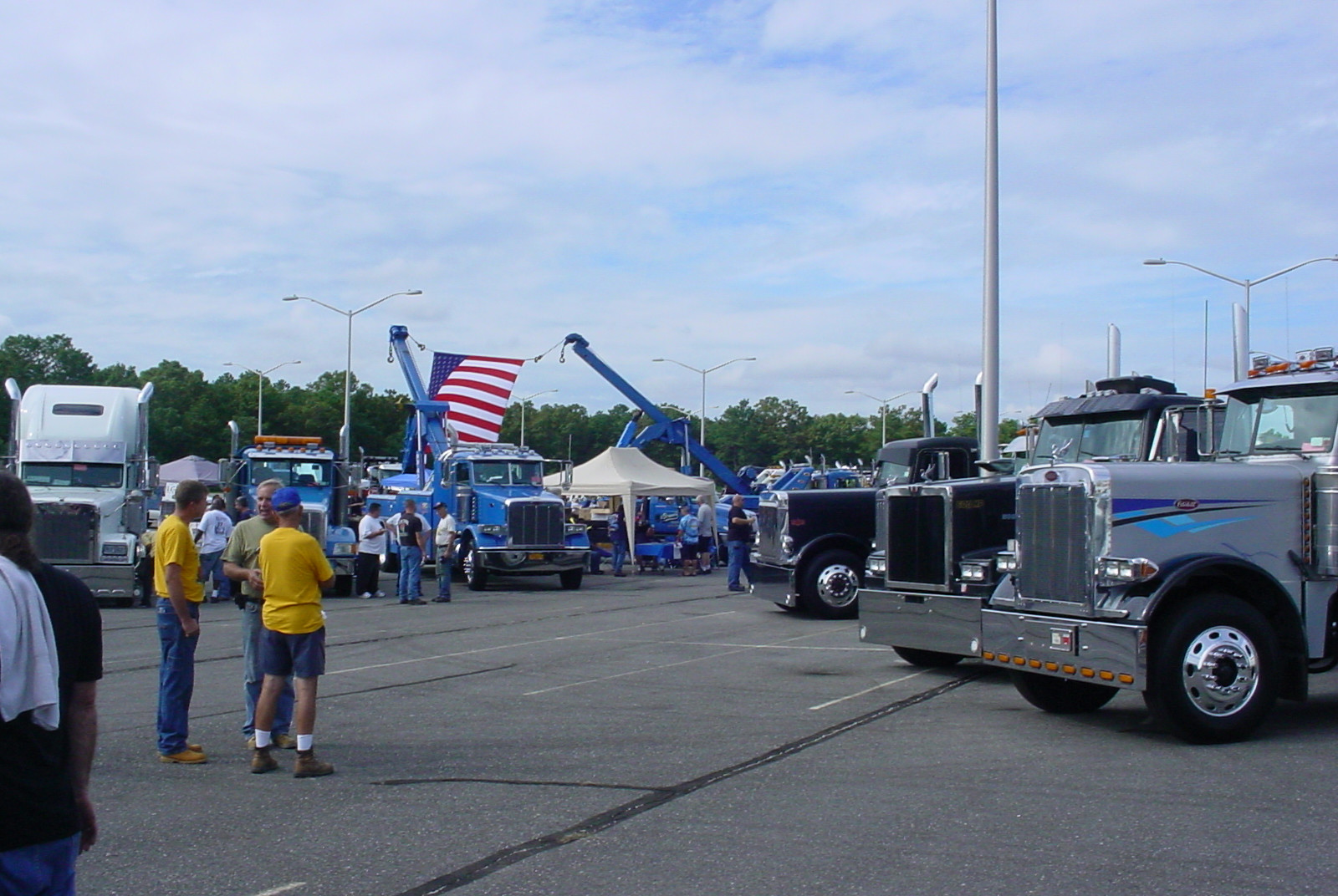 Big rigs on display at MacArthur Airport in Ronkonkoma