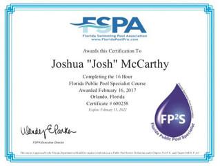 Josh McCarthy is FPPS Certified