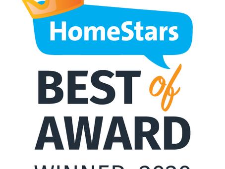 HomeStars Award 2020
