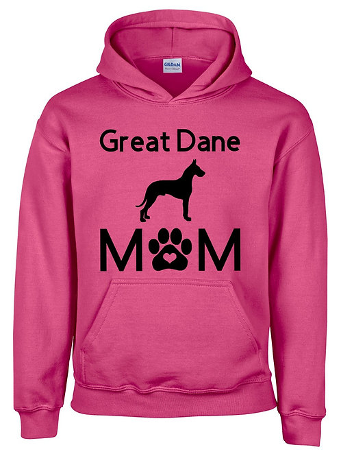 Great Dane Mom Hooded Sweatshirt