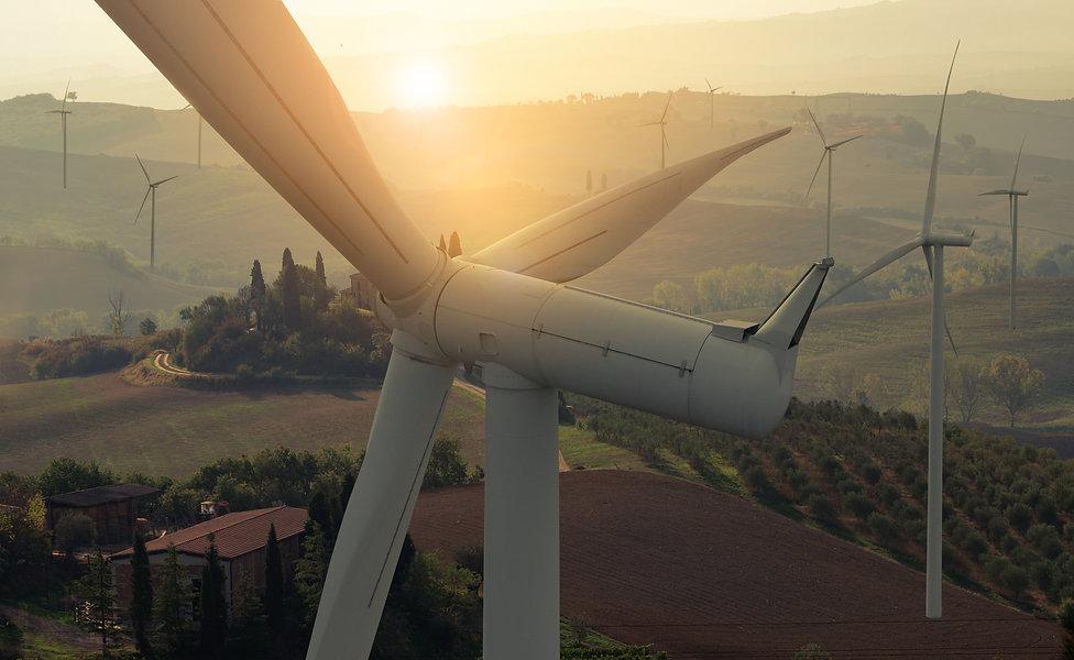 Wind turbine farm power generator in bea