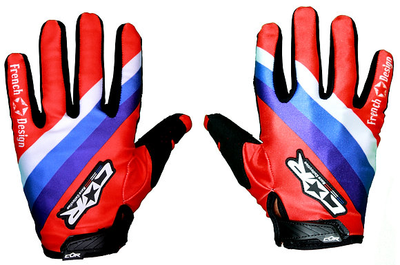Gant RACE bleu / blanc / rouge