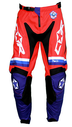 Pantalon RACE bleu / blanc / rouge