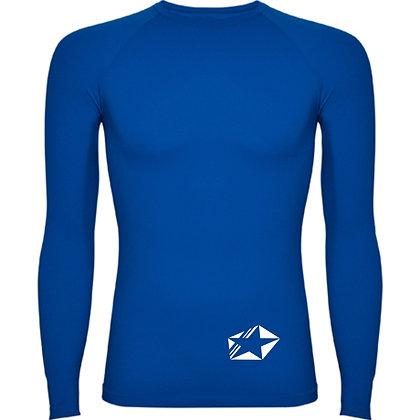 Maillot compression bleu roi