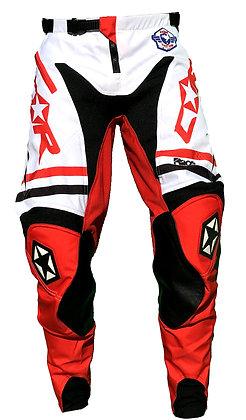 Pantalon RACE rouge/blanc