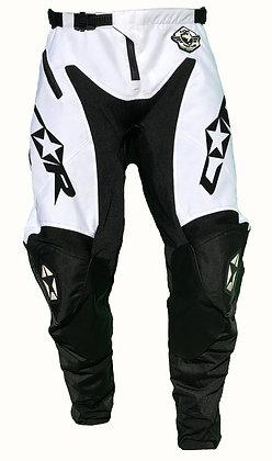 Pantalon RACE blanc/noir