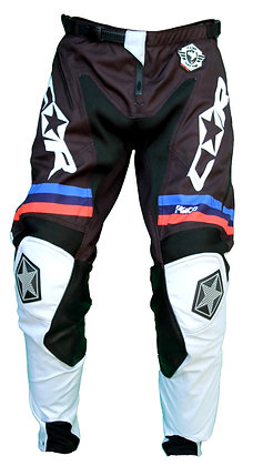 Pantalon RACE gris / noir / orange
