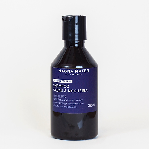 Shampoo Cacau e Nogueira - Cabelos escuros - Sem Sulfato