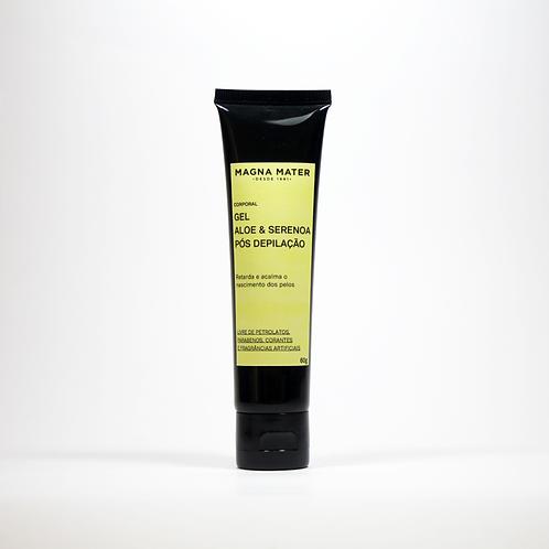 Gel pós depilação Aloe e Serenoa 60g