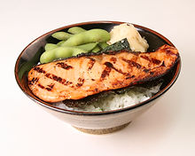 Grilled Salmon Rice Bowl