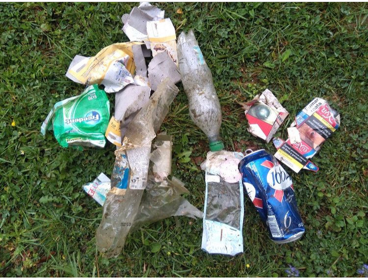 déchets en montagne