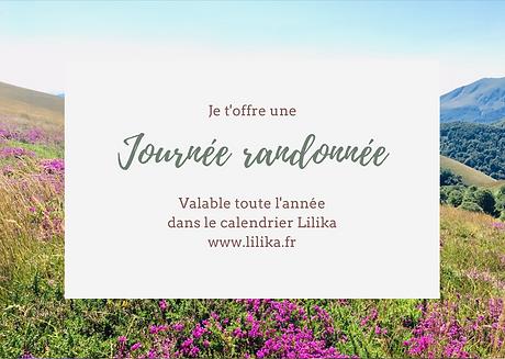 Journée randonnée - Carte cadeau - Lilika