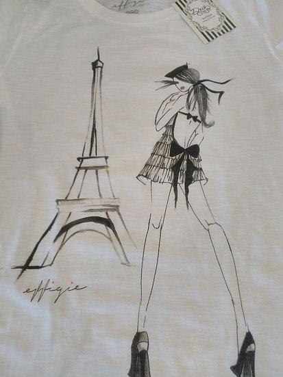 T-Shirt Effigie (Parigi b/n)