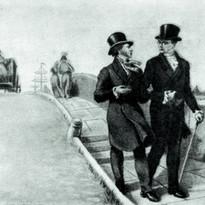 А. С. Грибоедов и А. С. Пушкин в Петербу