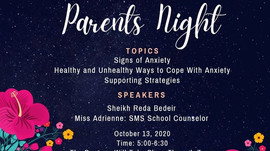 1th Parents Night of 2020-21 (Zoom Meeting)