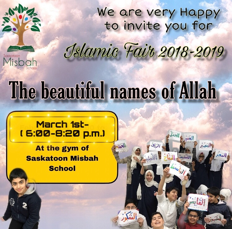 Islamic Fair 2018-2019, March 1th. 6-8:20 pm