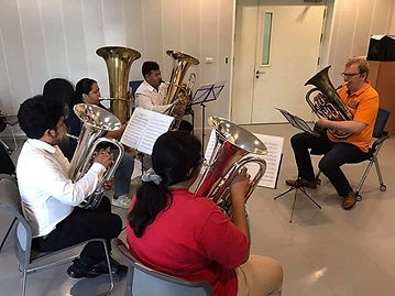 Masterclasses with many young euphonium