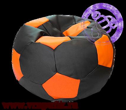 Кресло мяч искусственная кожа черный с оранжевым