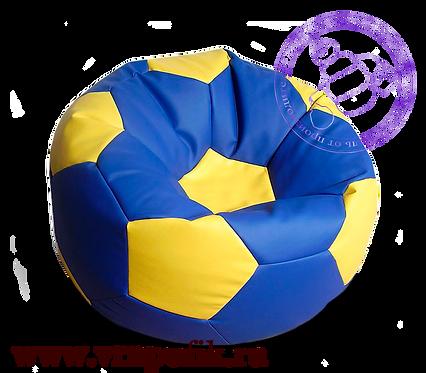 Кресло мяч искусственная кожа синий с желтым