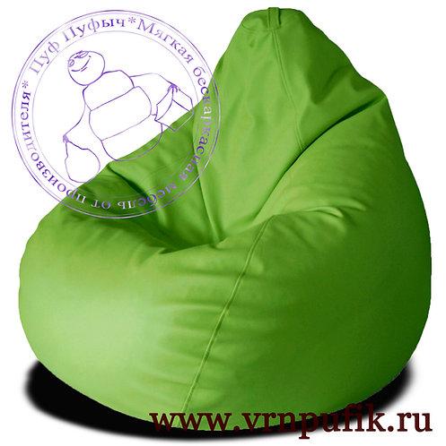 Кресло-груша экокожа зеленое