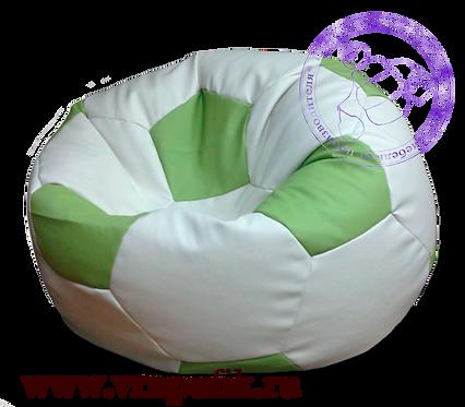 Кресло мяч искусственная кожа белый с салатовым