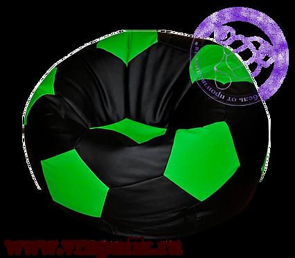 Кресло мяч искусственная кожа черный с зеленым