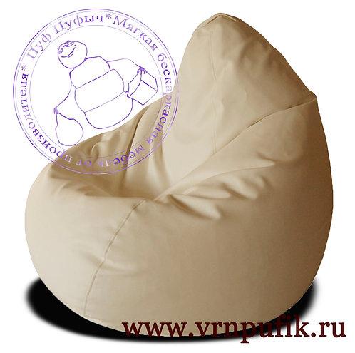 Кресло-груша экокожа бежевое