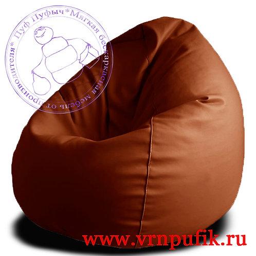 Кресло-груша экокожа коричневое