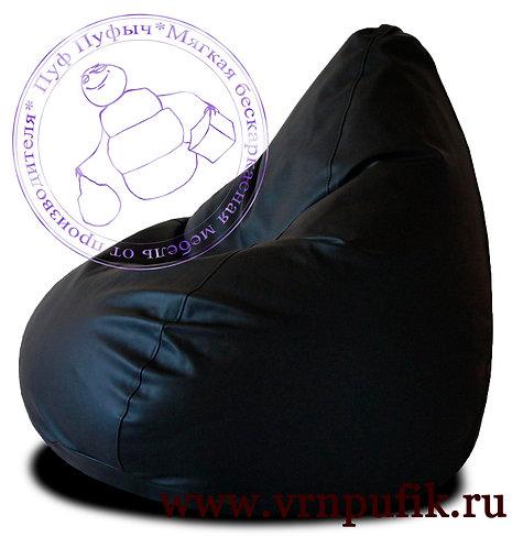 Кресло-груша экокожа черное
