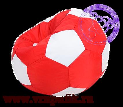 Кресло-мяч Oxford красный с белым