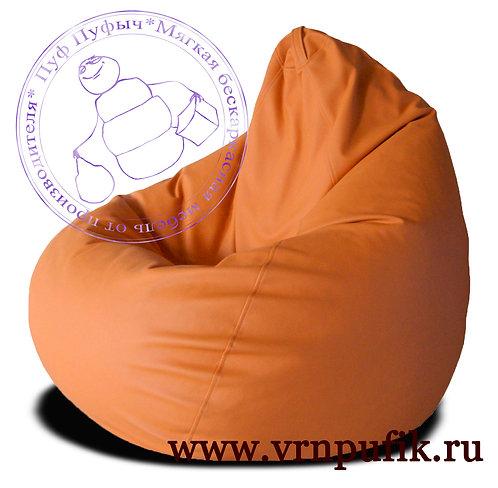 Кресло-груша экокожа оранжевое
