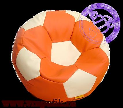 Кресло мяч искусственная кожа оранжевый с белым