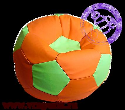 Кресло мяч искусственная кожа оранжев. с салатовым