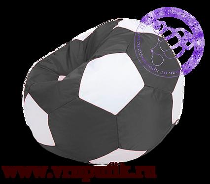Кресло-мяч Oxford черный с белым