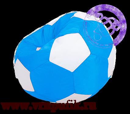 Кресло-мяч Oxford синий с белым