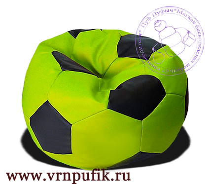 Кресло мяч искусственная кожа салатовый с черным