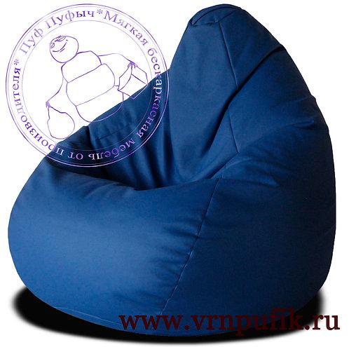 Кресло-груша экокожа синее