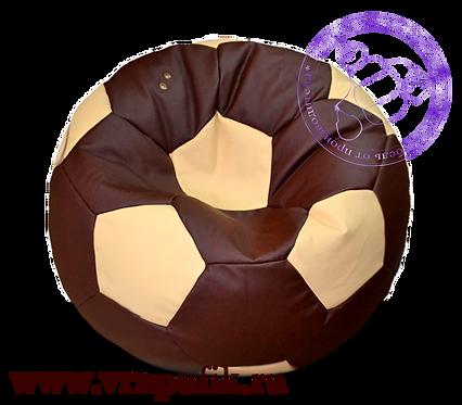 Кресло мяч искусственная кожа коричневый с бежевым