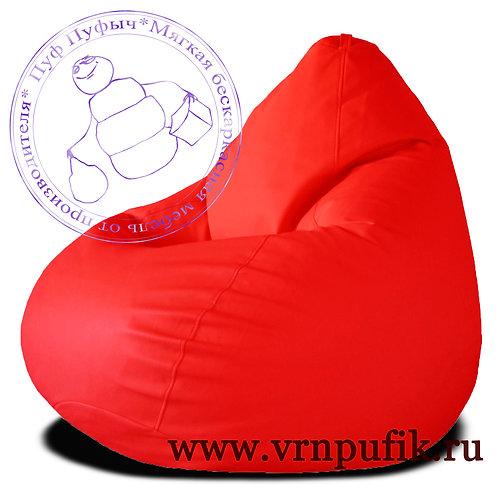 Кресло-груша экокожа красное