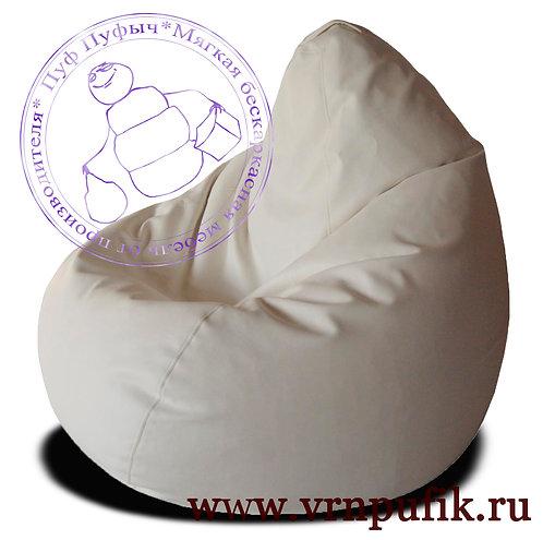 Кресло-груша экокожа белое
