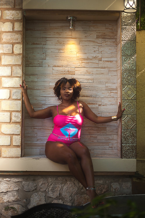 Ayitti pink and blue one piece