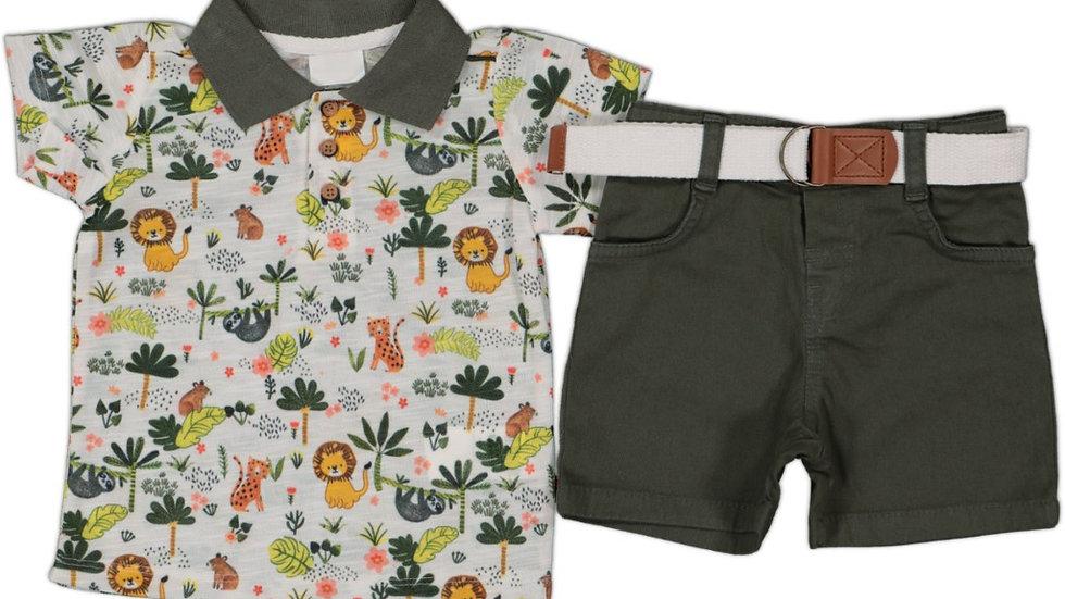 T- Shirt mit Jeans Shorts / Dschungel