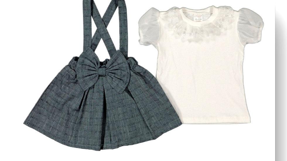 Kleid mit Träger und T-Shirt - blue