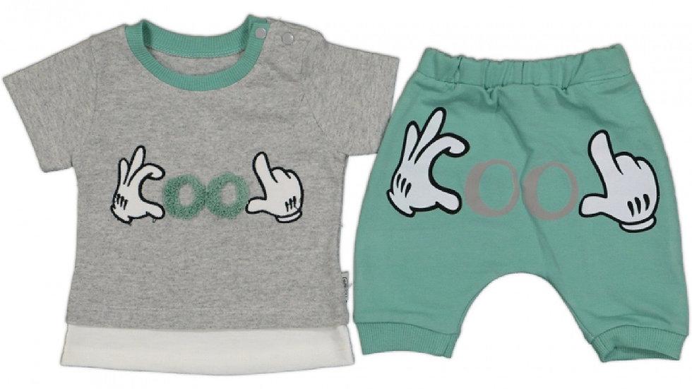 T-Shirt mit Hose / Cool - Mint